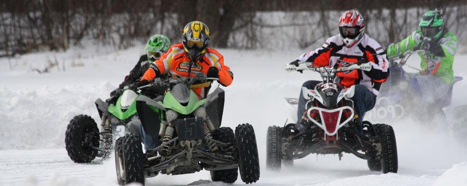 ATV-racing, prova köra 4-hjuling
