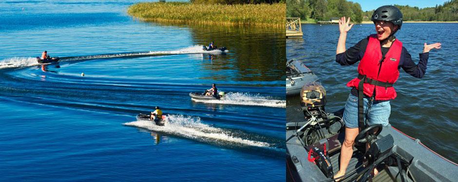 Båtracing med gokartbåtar!